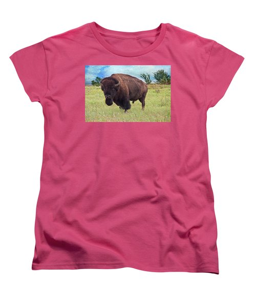 Women's T-Shirt (Standard Cut) featuring the photograph American Bison by Tamyra Ayles