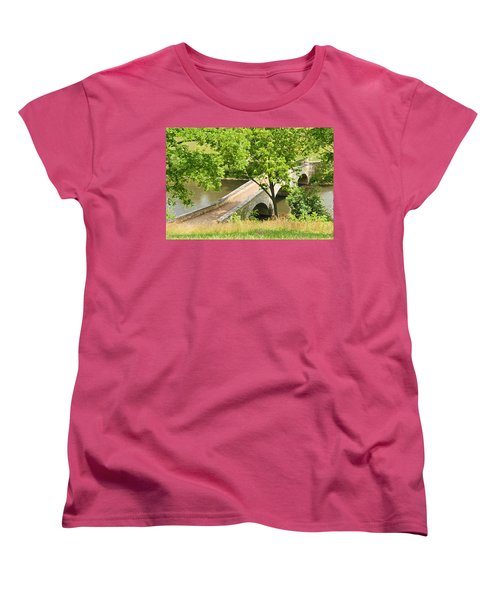 Antietam's Burnside Bridge Women's T-Shirt (Standard Cut) by Cindy Manero