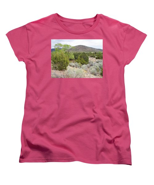April New Mexico Desert Women's T-Shirt (Standard Cut) by Kathleen Grace