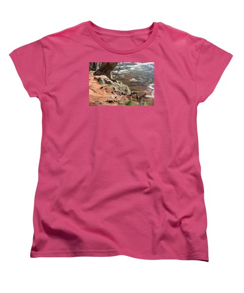 Women's T-Shirt (Standard Cut) featuring the photograph Arizona Red Water by Debbie Hart