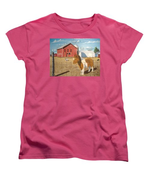 Women's T-Shirt (Standard Cut) featuring the painting At Home by Norm Starks