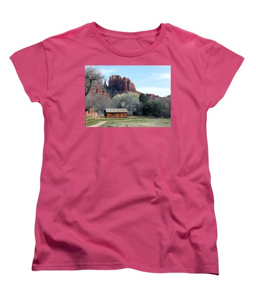 Women's T-Shirt (Standard Cut) featuring the photograph At The Base by Debbie Hart