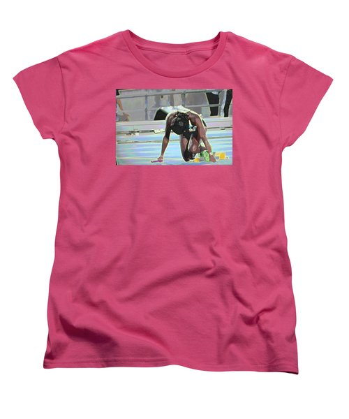 Women's T-Shirt (Standard Cut) featuring the mixed media Baton by Terence Morrissey