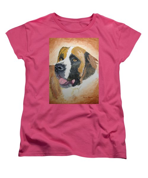 Women's T-Shirt (Standard Cut) featuring the painting Baxter by Norm Starks