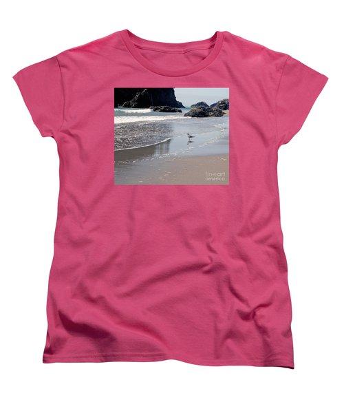 Women's T-Shirt (Standard Cut) featuring the photograph Beachcomber by Sharon Elliott
