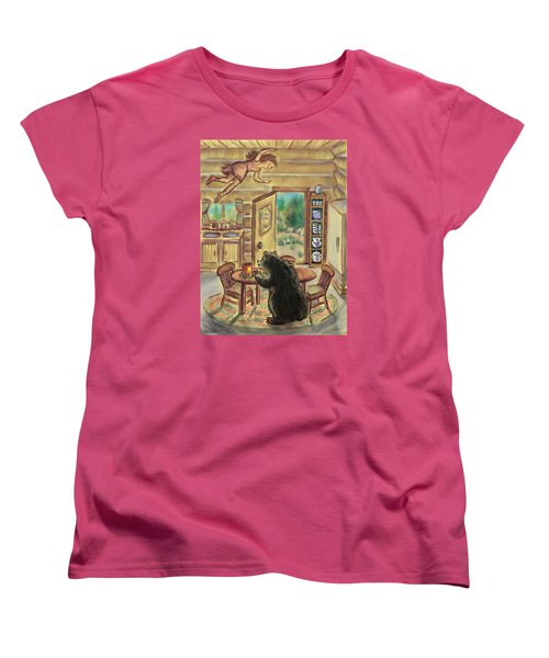 Bear In The Kitchen - Dream Series 7 Women's T-Shirt (Standard Cut) by Dawn Senior-Trask