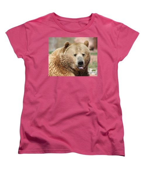Bear Rasberry Women's T-Shirt (Standard Cut) by Living Color Photography Lorraine Lynch