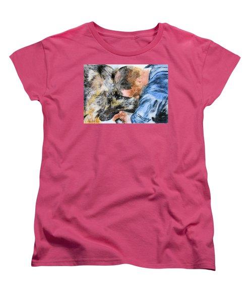 Best Friends-watercolor Study Women's T-Shirt (Standard Cut) by Maris Sherwood
