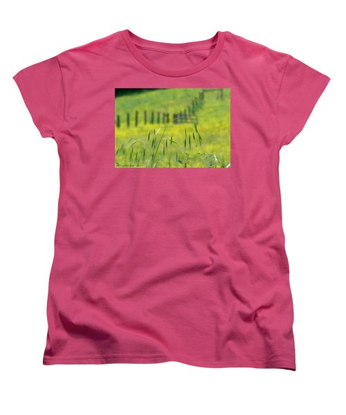 Women's T-Shirt (Standard Cut) featuring the photograph Beyond The Weeds by EricaMaxine  Price