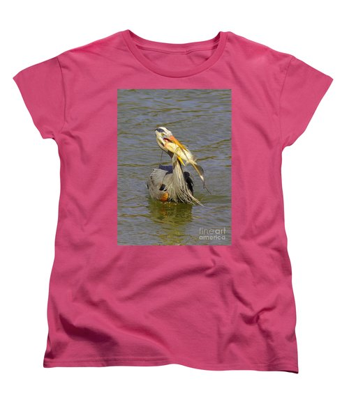 Bigger Fish To Fry Women's T-Shirt (Standard Cut) by Robert Frederick