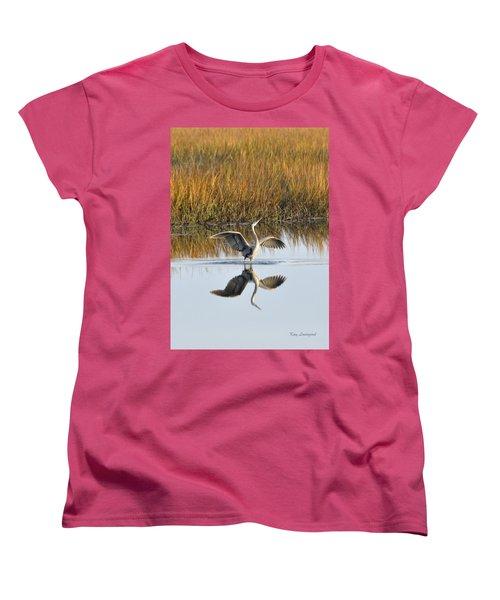 Women's T-Shirt (Standard Cut) featuring the photograph Bird Dance by Kay Lovingood