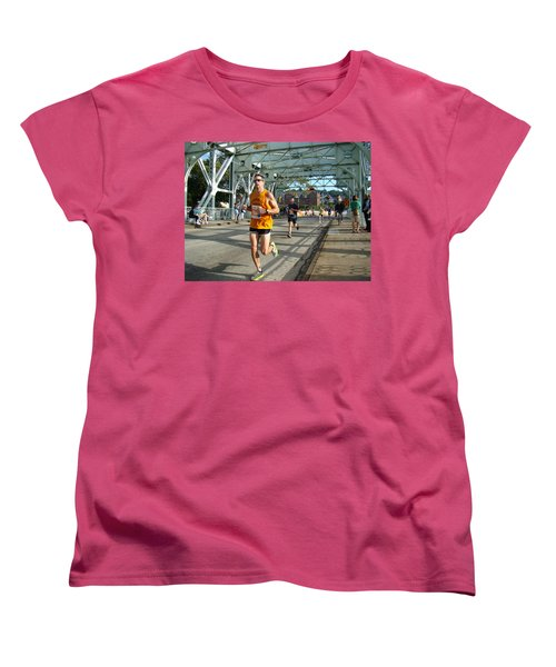 Women's T-Shirt (Standard Cut) featuring the photograph Bridge Runner by Alice Gipson