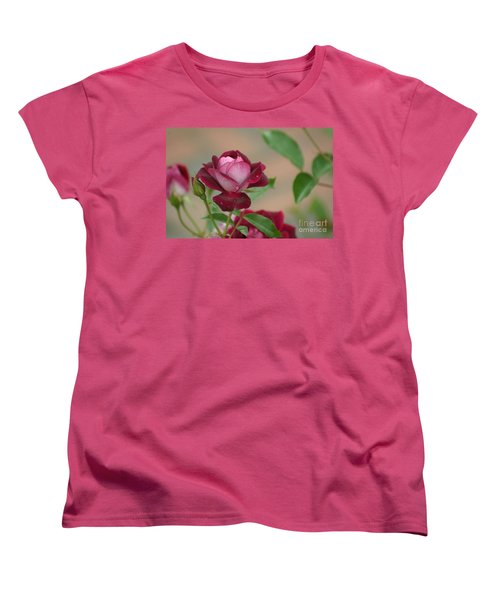 Burgundy Iceberg Women's T-Shirt (Standard Cut) by Living Color Photography Lorraine Lynch
