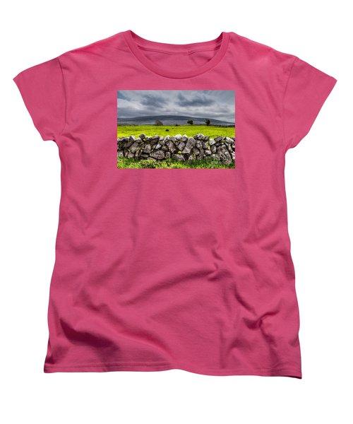 Women's T-Shirt (Standard Cut) featuring the photograph Burren Stones by Juergen Klust