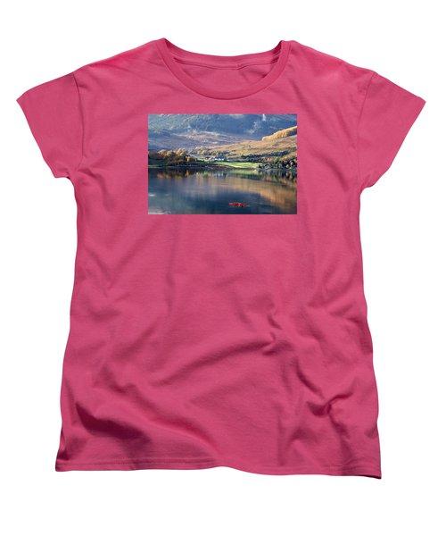 Women's T-Shirt (Standard Cut) featuring the photograph Canoeing On Loch Goil by Lynn Bolt