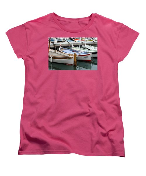 Women's T-Shirt (Standard Cut) featuring the photograph Cassis Harbor by Carla Parris