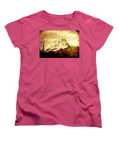 Castle Mountain Women's T-Shirt (Standard Cut) by Alyce Taylor