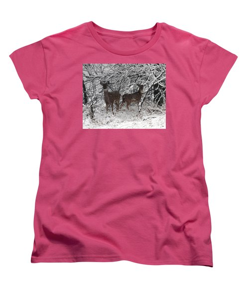 Women's T-Shirt (Standard Cut) featuring the photograph Caught In The Snow Storm by Elizabeth Winter