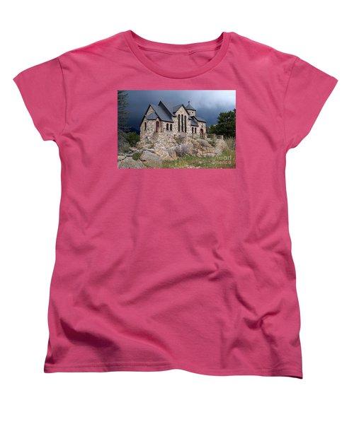 Chapel On The Rocks No. 1 Women's T-Shirt (Standard Cut) by Dorrene BrownButterfield