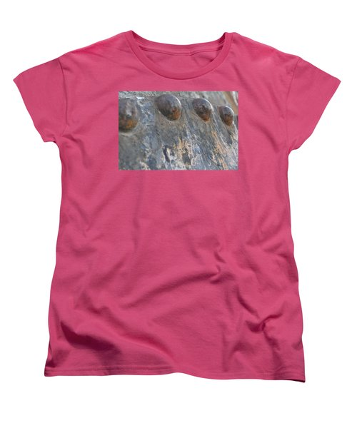 Women's T-Shirt (Standard Cut) featuring the photograph Color Of Steel 7 by Fran Riley