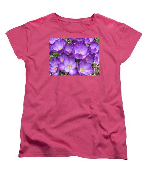 Women's T-Shirt (Standard Cut) featuring the photograph Crocus by Laurianna Taylor