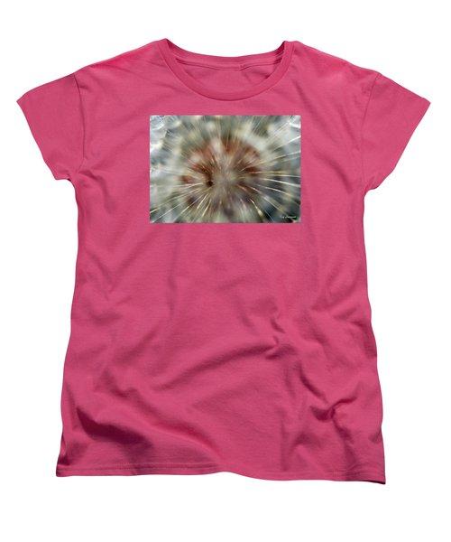 Dandelion Fluff Women's T-Shirt (Standard Cut) by Kay Lovingood