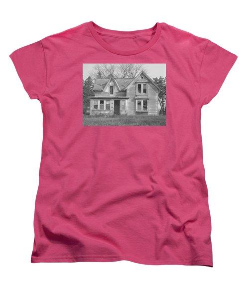 Women's T-Shirt (Standard Cut) featuring the photograph Defiance B/w by Bonfire Photography