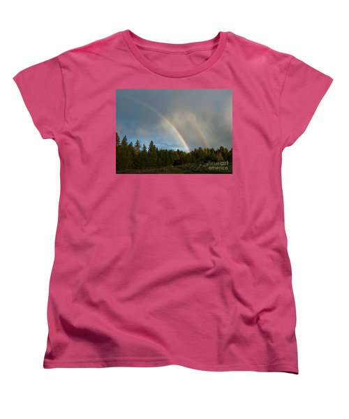 Women's T-Shirt (Standard Cut) featuring the photograph Double Blessing by Cheryl Baxter
