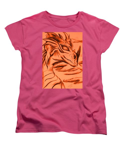 Dragon In Color Women's T-Shirt (Standard Cut) by Maria Urso