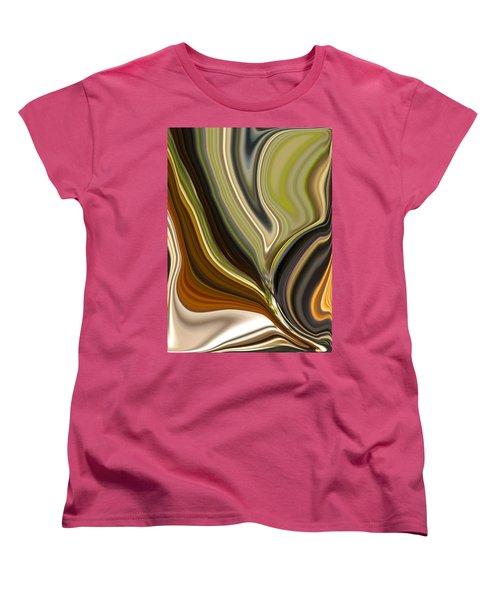 Earth Tones Women's T-Shirt (Standard Cut) by Renate Nadi Wesley