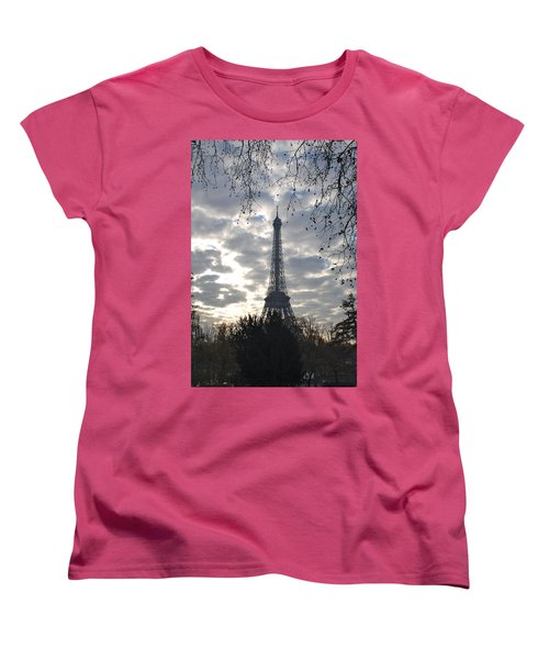 Women's T-Shirt (Standard Cut) featuring the photograph Eiffel In The Morning by Eric Tressler