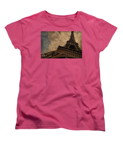 Eiffel Tower 2 Women's T-Shirt (Standard Cut) by Mary Machare