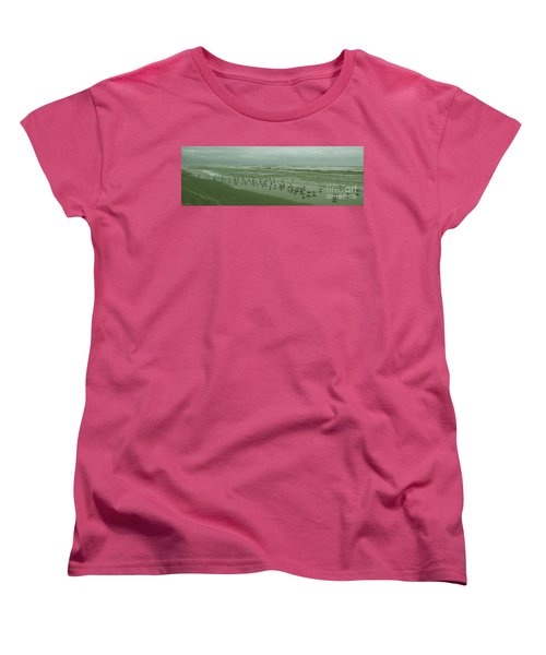 Women's T-Shirt (Standard Cut) featuring the photograph Facing The Wind by Donna Brown