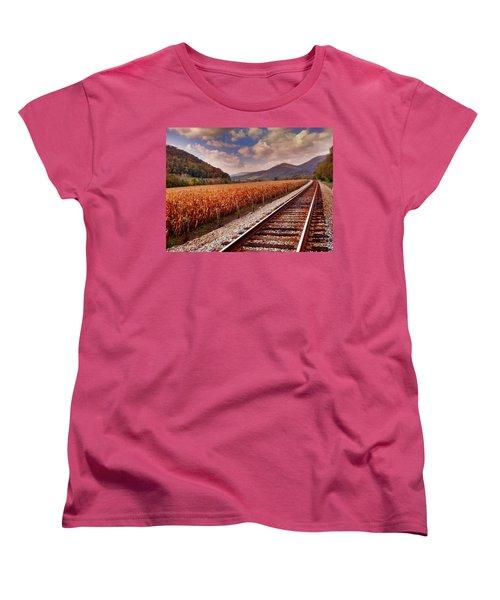 Fall Days Women's T-Shirt (Standard Cut) by Janice Spivey