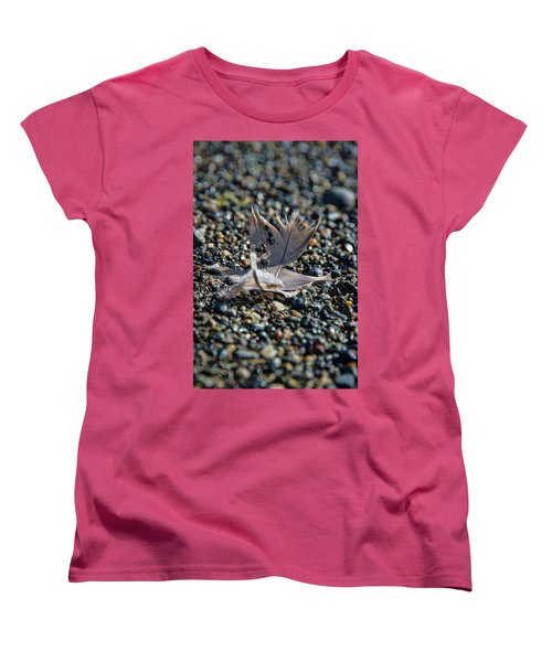Women's T-Shirt (Standard Cut) featuring the photograph White Feather by Marilyn Wilson