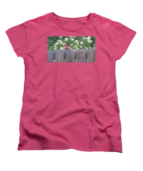 Women's T-Shirt (Standard Cut) featuring the photograph Fence Top by Elizabeth Winter