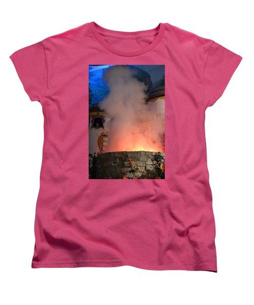 Fiery Entrance Women's T-Shirt (Standard Cut) by Bonnie Myszka