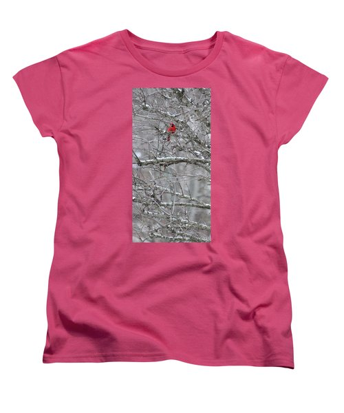 Women's T-Shirt (Standard Cut) featuring the photograph First Snow Fall by Kume Bryant