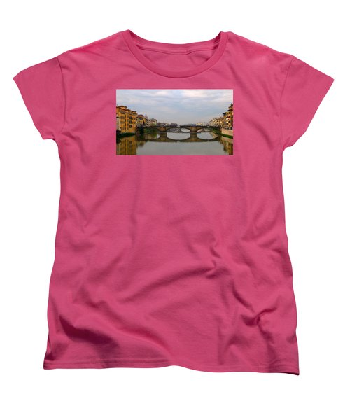 Florence Italy Bridge Women's T-Shirt (Standard Cut) by Catie Canetti