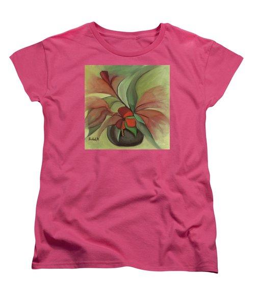 Flying Flowers Women's T-Shirt (Standard Cut) by Rachel Hershkovitz