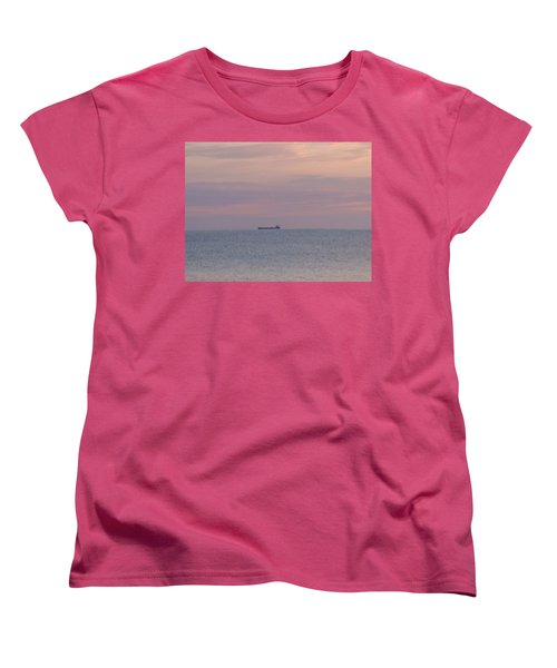 Women's T-Shirt (Standard Cut) featuring the photograph Freighter by Bonfire Photography