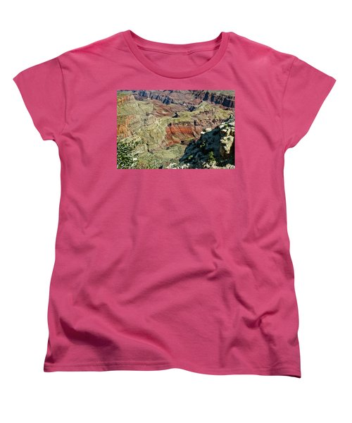 Women's T-Shirt (Standard Cut) featuring the painting From Yaki Point 6 Grand Canyon by Bob and Nadine Johnston