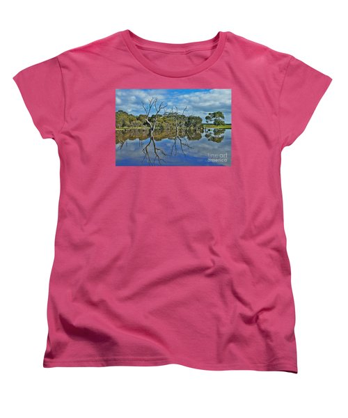Women's T-Shirt (Standard Cut) featuring the photograph Glass Lake by Stephen Mitchell