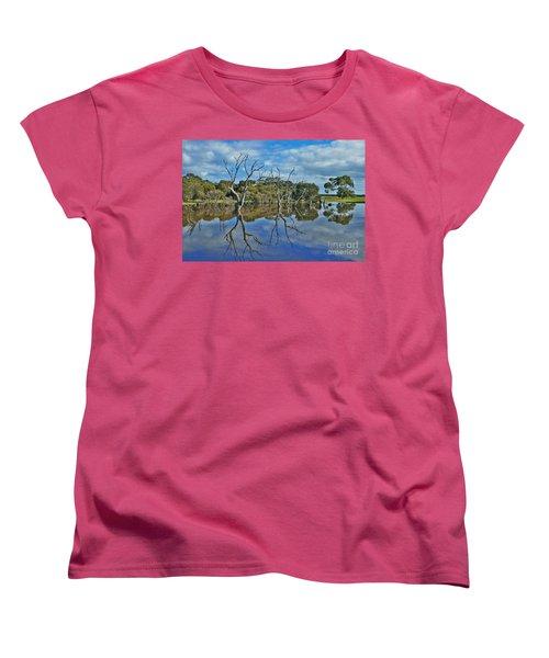 Glass Lake Women's T-Shirt (Standard Cut) by Stephen Mitchell