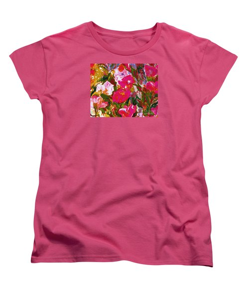 Women's T-Shirt (Standard Cut) featuring the mixed media Glorious by Beth Saffer