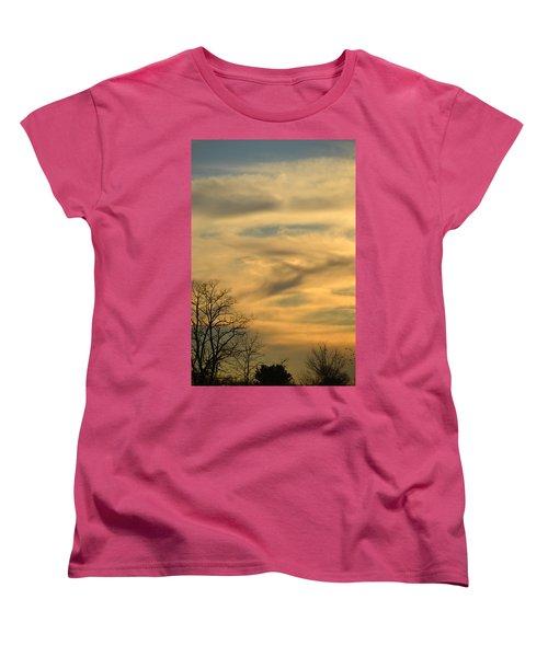 Golden Hue Women's T-Shirt (Standard Cut) by Bonnie Myszka
