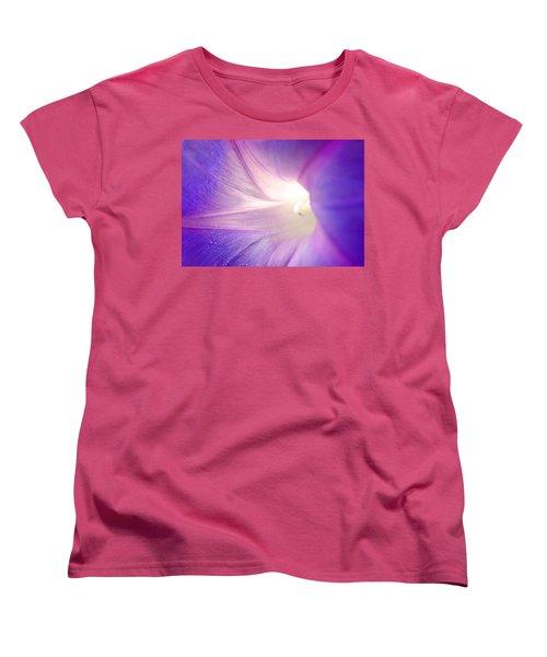 Good Morning Glory Women's T-Shirt (Standard Cut) by Melanie Moraga