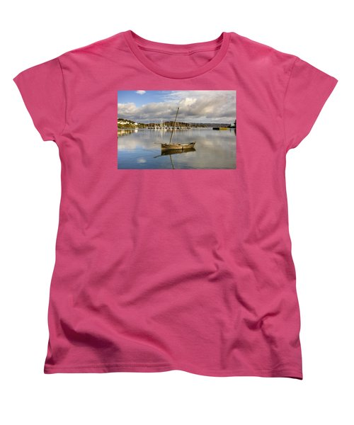 Harbour In Tarbert Scotland, Uk Women's T-Shirt (Standard Cut) by John Short