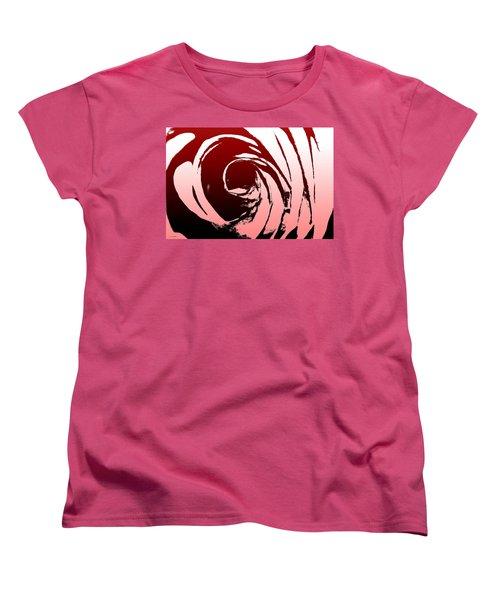 Women's T-Shirt (Standard Cut) featuring the photograph Heart Of The Rose by Lauren Radke