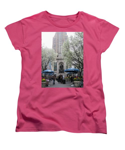 Women's T-Shirt (Standard Cut) featuring the photograph Herald Square by Dora Sofia Caputo Photographic Art and Design